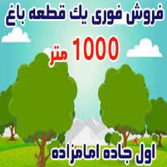 فروش باغ 1000 متر در امامزاده ارومیه