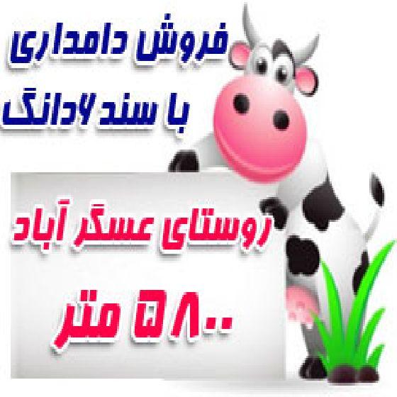 فروش دامداری در نوشین شهرارومیه، روستای عسگر آباد،5800 متر زمین،مجوز دامداری از جهاد کشاورزی