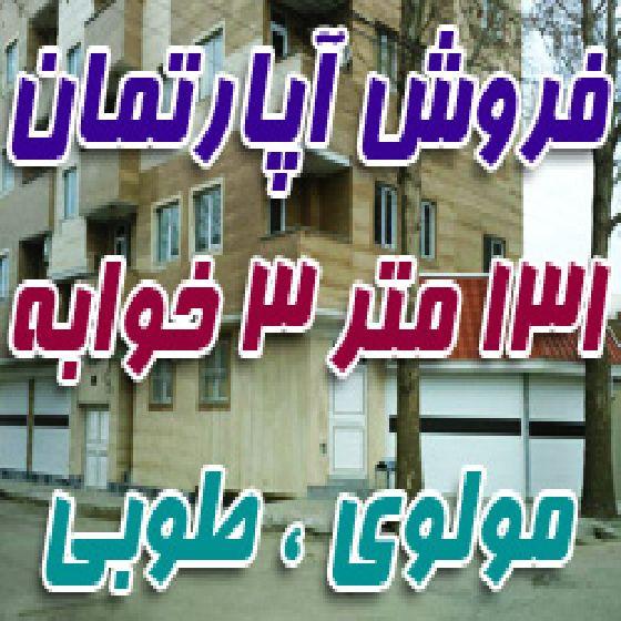 فروش آپارتمان 131 متر 3 خوابه در مولوی طوبی، سند آماده،طبقه 4