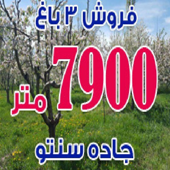 فروش باغ 7900 متر در جاده سنتو ارومیه،کیلومتر 12