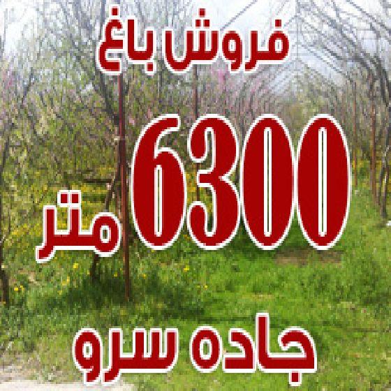 فروش باغ 6300 متری در جاده سرو ارومیه،50 متر ساختمان،سند 6 دانگ قابل معاوضه