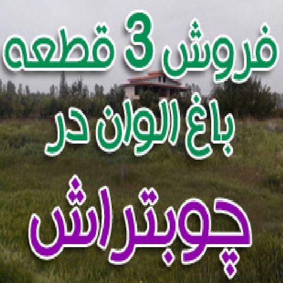 فروش 3 قطعه باغ نیم طناب در روستای چوبتراش،دارای ویلا