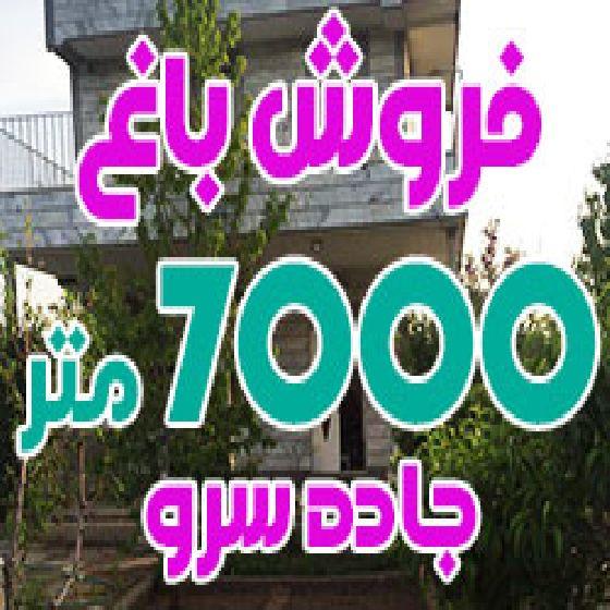 فروش باغ 7000 متر در جاده سرو