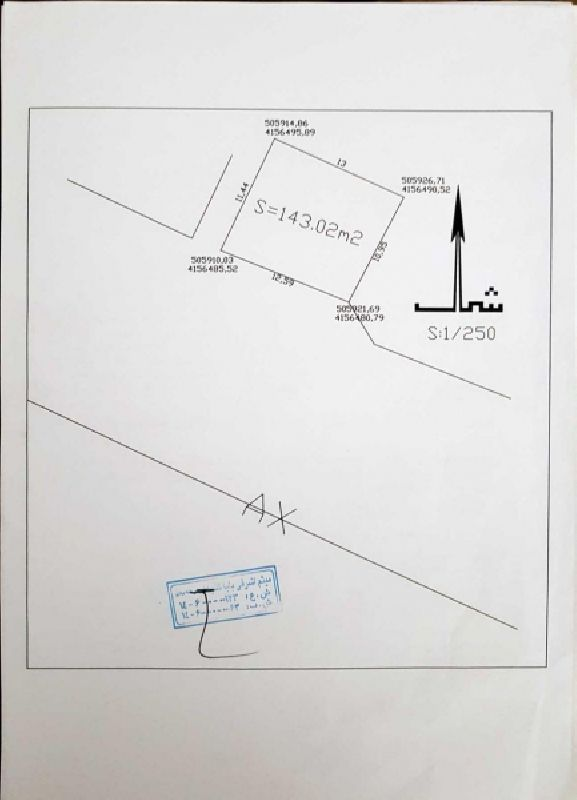 فروش زمین143متر خیابان عطایی ارومیه