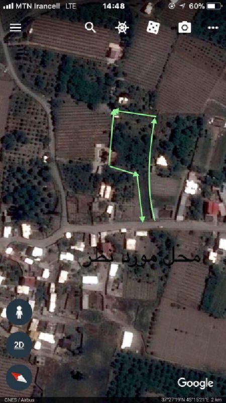 فروش باغ الوان 3760 متر جاده سنتو ارومیه
